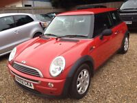 MINI ONE 1.6 MANUAL.LONG M.O.T. GOOD CONDITION.