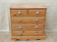 Chest of Drawers Welsh heavy duty pine (Delivery)