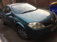 NISSAN PRIMERA 1.8 NO MOT DRIVES WELL ONLY FAILED ON TYRE AND INSECURE BATERY
