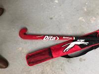 Dita graphite hockey stick with Slazenger case