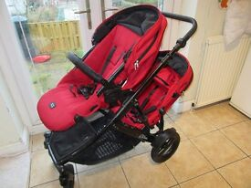 Britax B-Dual pushchair with carseat and cot insert £140ovno