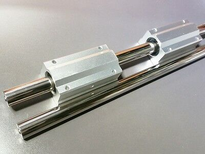 2 X 20mm 16 Hardened Shafts 2 Long Linear Blocks Scs20luu Rail Bearing Motion