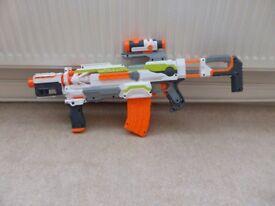 **Nerf N-Strike Modulus ECS-10 Blaster plus Long Range upgrade kit**