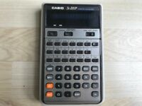 Vintage CASIO fx-201P Scientific Calculator + Case..