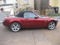 Mazda MX5 Icon, low mileage, leather seat, Ruby Red Convertable