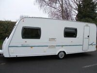 6 BERTH, LIGHTWEIGHT LUNAR ZENITH CARAVAN,FIXED END BUNKS,EXC CONDITION,GREAT LAYOUT