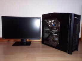 Gaming PC GTX 1060 6gb i5 Processor with Benq xl2411z monitor