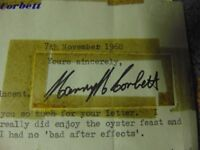 harry h corbett autograph /rare/steptoe and son /collect aberbargoed south wales
