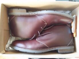 Clarkes Mens Leather Boots Size 9.5
