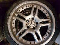 "Mercedes 18"" AMG replica Alloys."