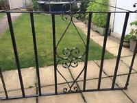 Traditional wrought iron gate 2 piece set