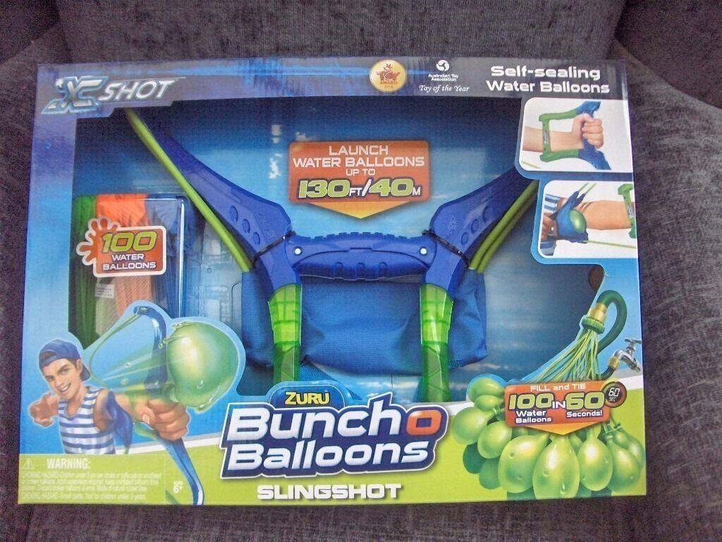 x shot buncho balloons slingshot bnib.