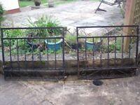 one pair of wrought iron gates