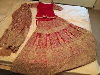Indian bridal wedding lengha