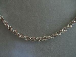 EXQUISITE VINTAGE 18-IN. TWISTED ROPE SILVERTONE CHAIN NECKLACE