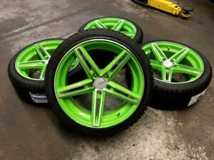 18 GREEN WHEELS 5x112 and WINTER TIRES 225/40R18 (VOLKSWAGEN GOLF, JETTA, MERCEDES) Calgary Alberta Preview