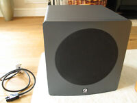 Q Acoustics 1000S Subwoofer. Graphite Grey. 100W RMS. Very good condition. FWO.