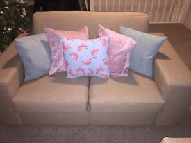 2 x 2 seater sofas, brand new condition.