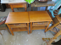 2 Bedside Tables with cane drawers in good condition £25 for both.