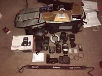 Canon 500D with plenty of Extras