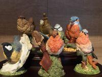Collection of royal doulton British birds