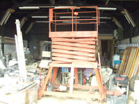 scissors platform lift hydraulic oil battery operated