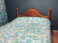 PINE KING SIZE BED AND MEMORY FOAM MATTRESS