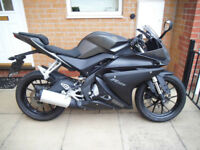 YAMAHA YZF R125 ( ABS ) MATT GREY / LOW MILEAGE *** DELIVERY FROM £49 ***