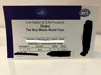 DRAKE 'boy meets world' tour Saturday 4th Feb @ O2
