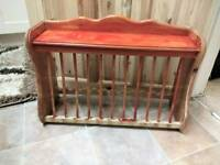 Vintage Pine Plate Rack