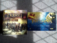 The Hobbit board game and The Lord of the Rings deck building game