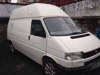 VW t4 Long Wheel Base Transporter Van Hi-top