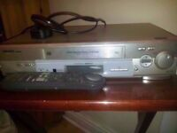 Video vhs player with remote