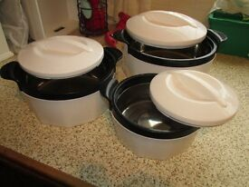 Set of 3 Insulated food Dishes,...