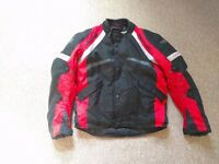 motorcycle jacket red black