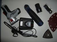 NEW. 2 Piece 10.8 volt kit. Multi Tool and Jigsaw.