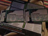 2 X Rudimental Tickets for sale £75 for the pair.
