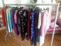 Two ex retail clothes rails