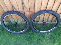 """Stans no tubes flowEX 26"""" wheel set with Hans Damf 2.35 tyres"""