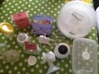 Tommee tippee breast pump and everything you need for breastfeeding