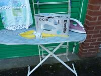 Iron Tefal with Ironing Board and New Iron £10