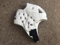 Adidas white sparing helmet