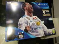 Playstation 4 (PS4) Slim 500Gb Console (Black) with FIFA 18