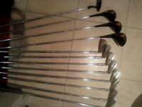 Great set of well balanced irons woods and tour putter