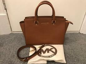 Michael Kors Selma Saffiano Bag in Luggage