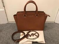 Michael Kors Selma Saffiano Bag in Luggage