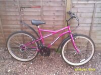 LADIES LIKE NEW APOLLO MOUNTAIN BIKE ONE OF MANY QUALITY BICYCLES FOR SALE