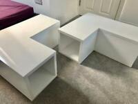 Table / shelf / storage white vinyl