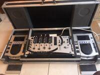 Pioneer CDJs - 100s X 2, Gemini Mixer and Case