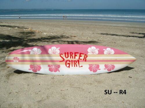 SU 100 R4 / Deko Surfboard 100 cm , Retro Surfbretter Holz Dekosurfboard surfen
